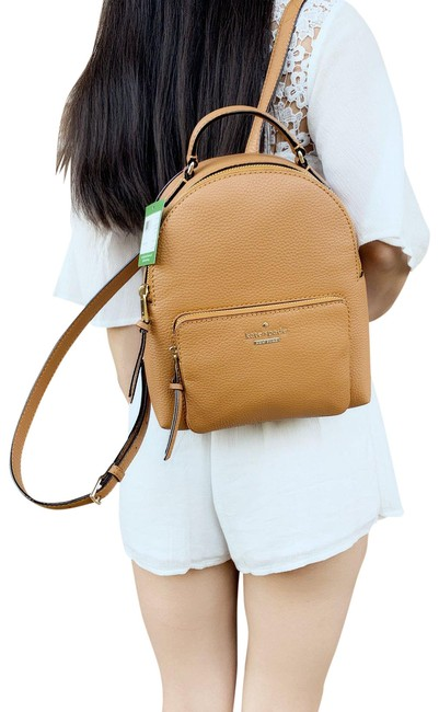 Item - Jackson Street Keleigh Small Passonfruit Brown Patent Leather Backpack