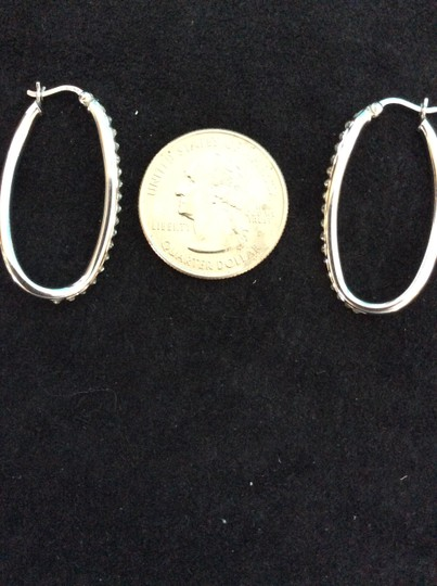 Other Sterling silver and diamond twisted oval earrings