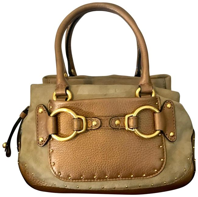 Item - Stephanie Suede Tan Leather Baguette