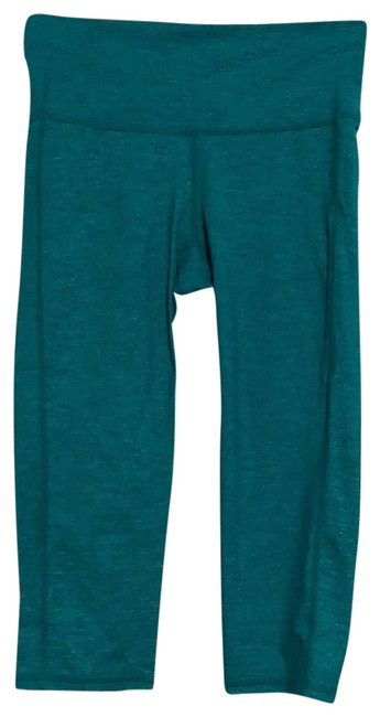 Item - Turquoise Cropped Active Leggings Activewear Bottoms Size 00 (XXS)