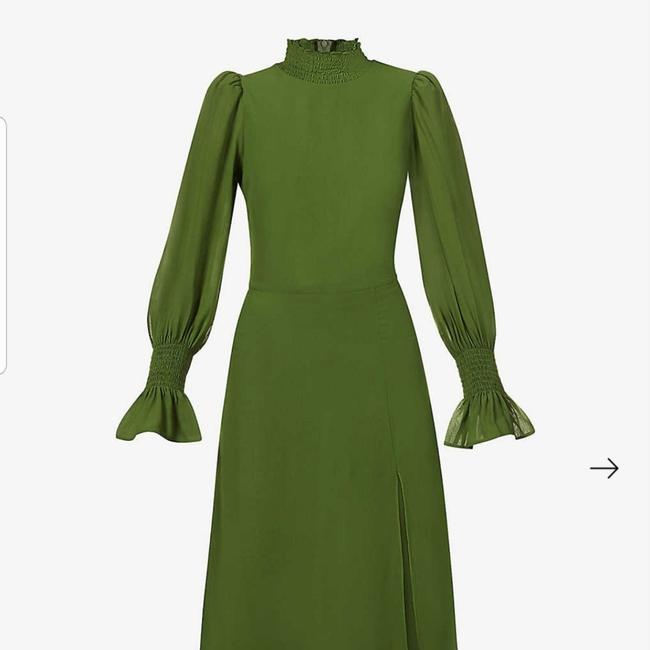 Item - Olive Galena Mid-length Night Out Dress Size 12 (L)