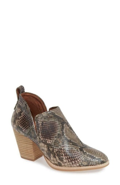 Item - Taupe Snake Multi Rosalee Leather Boots/Booties Size US 7 Regular (M, B)
