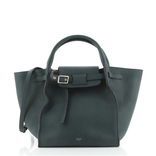 Item - Big Bag Grained Calfskin Small Green Leather Tote