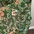Umgee Green Floral Bell Sleeve In Army Short Casual Dress Size 4 (S) Umgee Green Floral Bell Sleeve In Army Short Casual Dress Size 4 (S) Image 3