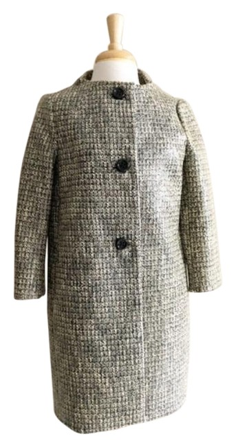 Item - Gray Brown Erika Printed Button Front M Coat Size 8 (M)