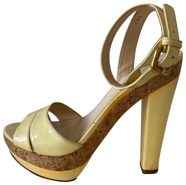 Item - Yellow / White They Were Cream But Now They Are More On Yellow Platforms Size EU 38 (Approx. US 8) Regular (M, B)