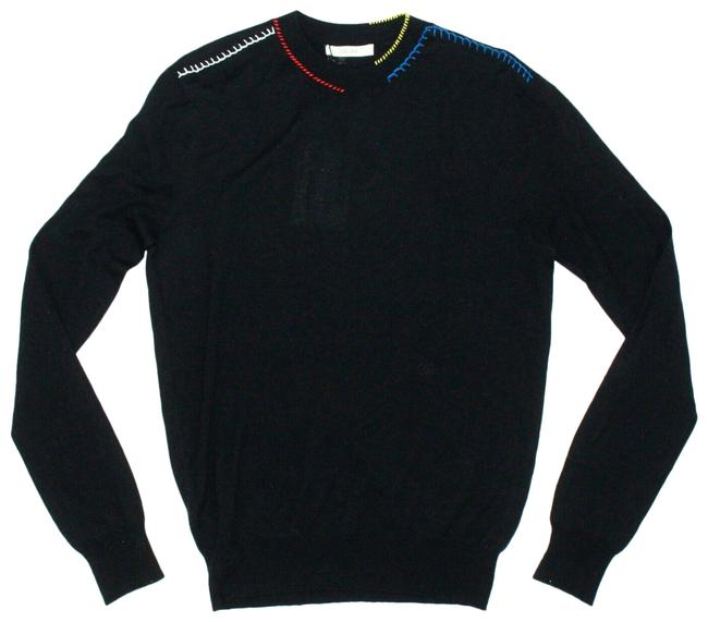 Item - XS Phoebe Philo Stitched Collar - Us Black Sweater