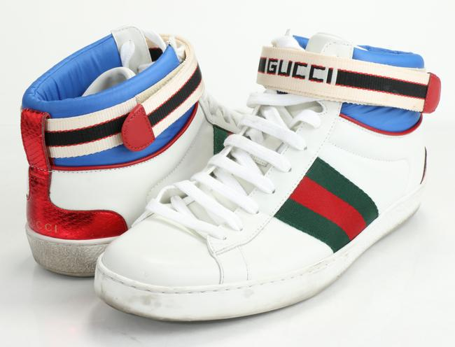 Item - Multicolor Ace Stripe High-top Sneakers Shoes