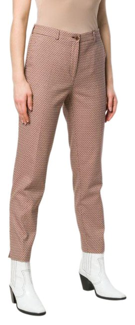 Item - Brown Printed Tapered Pants Size 4 (S, 27)