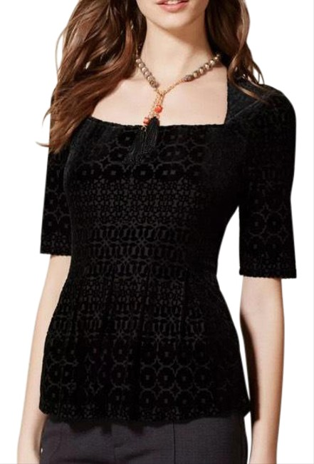 Item - Black Continental Blouse Size 4 (S)