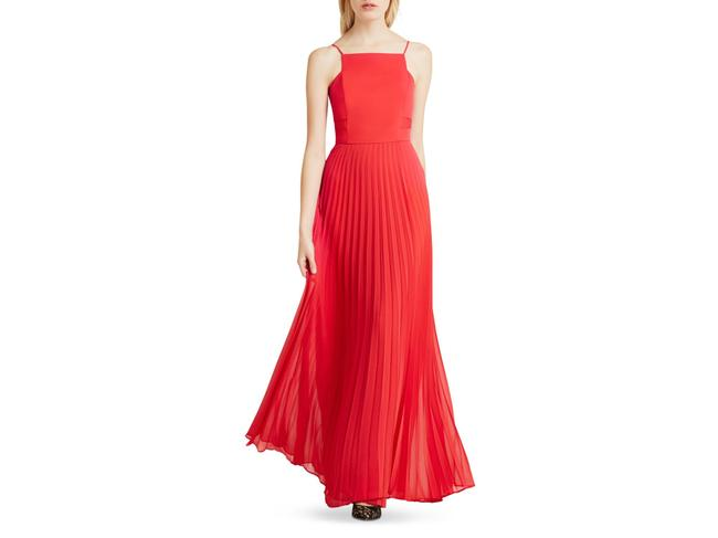 Item - Cardinal Red Pleated Maxi Long Formal Dress Size 0 (XS)
