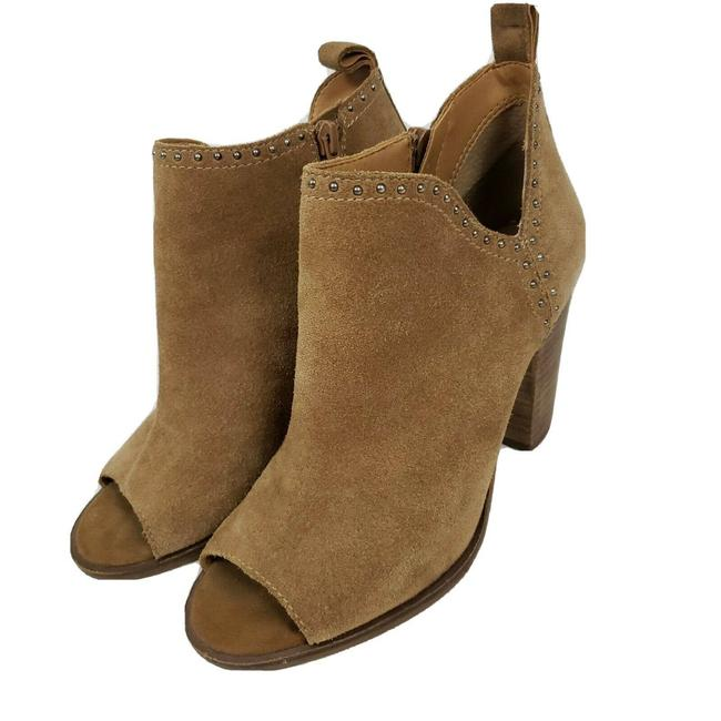 Sz 9.5 $149 NWT Lucky Brand Women/'s LATINIA Ankle Bootie Leather Suede Brown