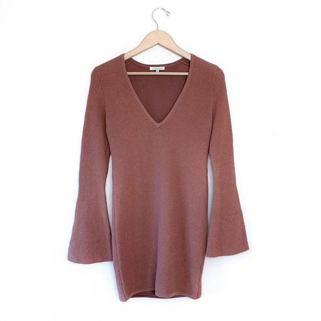 Item - Brown Intermix Exclusive Knit Mini Night Out Dress Size 8 (M)