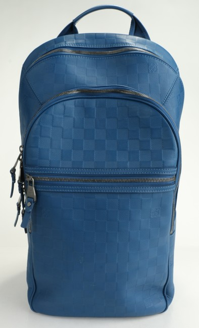 Item - Blue Backpack Michael Nm Damier Infini Leather Men's Jewelry/Accessory