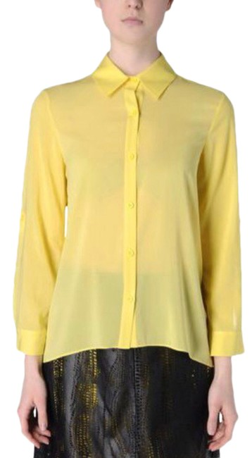 Item - Canary Yellow Silk Button-down Top Size 0 (XS)