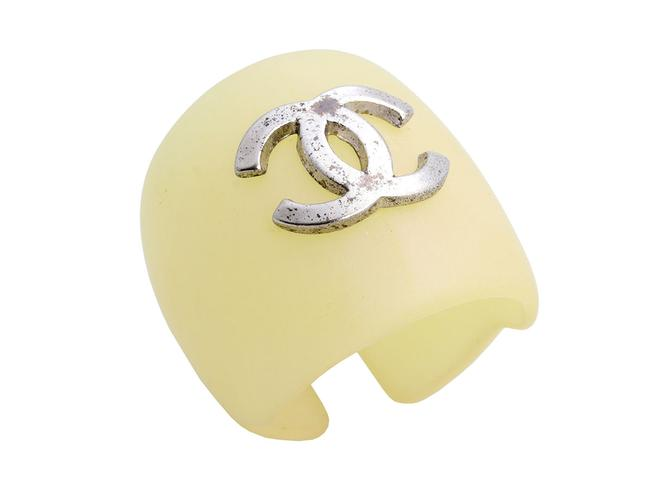 Item - Off-white Resin and Silver-tone Logo Open Ring