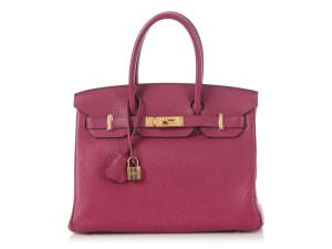 Item - Birkin Tosca Togo 30 Dark Pink Calfskin Leather Satchel