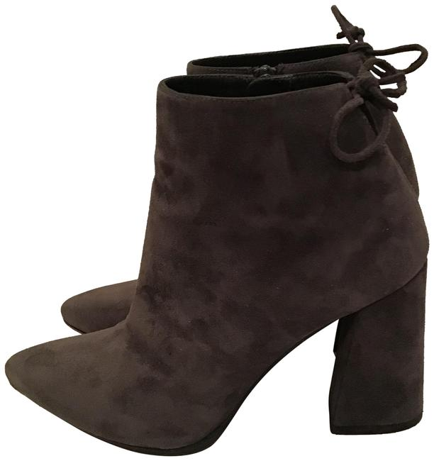 Item - Grey Suede Grandiose Tapered Heel Ankle Boots/Booties Boots/Booties Size US 6.5 Regular (M, B)