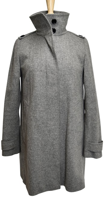 Item - Gray Wool & Cashmere Coat Size 4 (S)