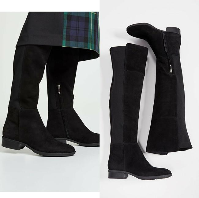 Item - Black Pam Over The Knee Otk Stretch Boots/Booties Size US 7 Regular (M, B)