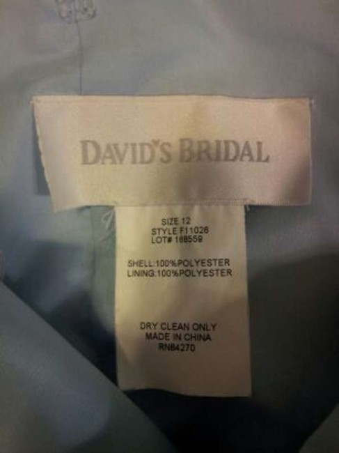 David's Bridal Prom Strapless Dress