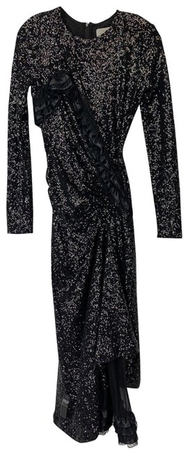 Item - Pewter M Sequined Wrap Mid-length Night Out Dress Size 10 (M)