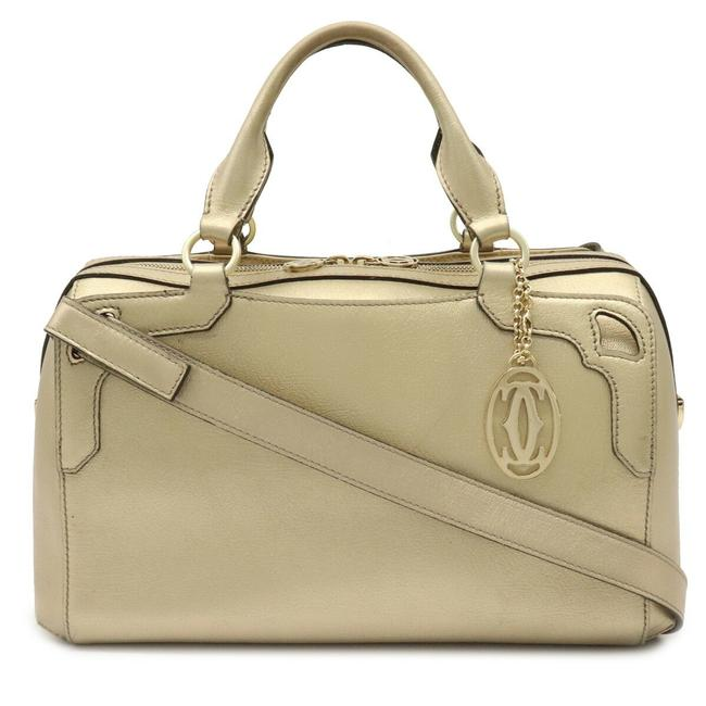 Item - Bowling Bag Marcello De Boston Handbag 2way Shoulder L1001574 Champagne Gold Leather Satchel
