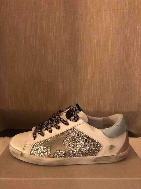 Golden Goose Deluxe Brand Silver Superstar Distressed Glittered Leather and Suede Sneakers Size EU 36 (Approx. US 6) Regular (M, B) Golden Goose Deluxe Brand Silver Superstar Distressed Glittered Leather and Suede Sneakers Size EU 36 (Approx. US 6) Regular (M, B) Image 10