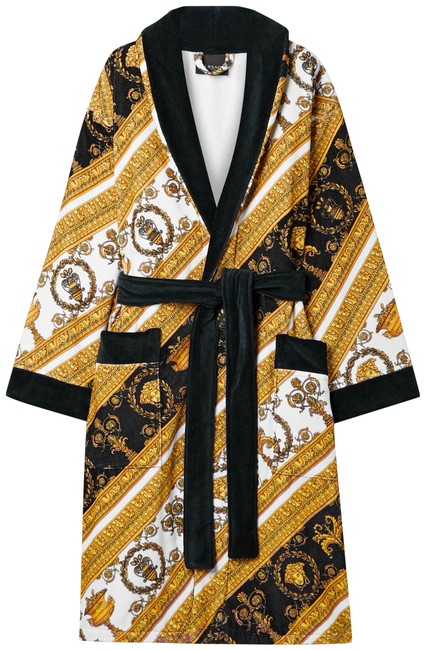 Item - Gold Printed Cotton-terry Robe Jacket Size 12 (L)