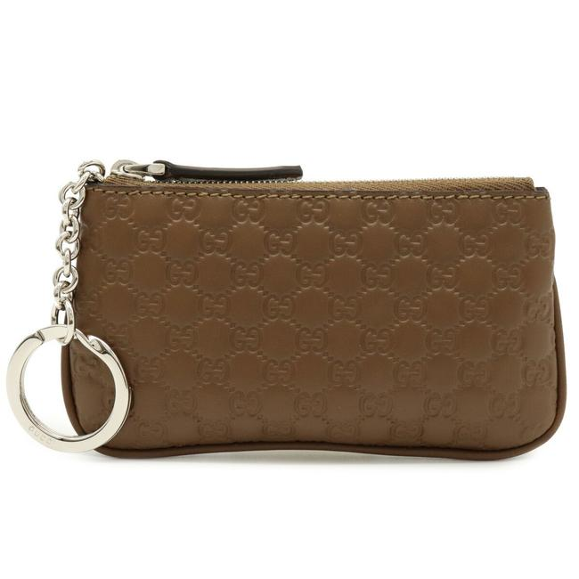 Item - Brown Micro Shima Coin Purse Leather Outlet 544476 Wallet