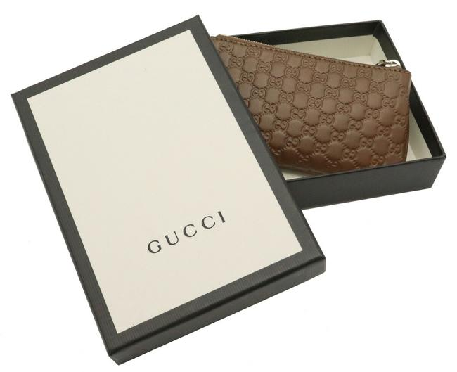 Gucci Brown Micro Shima Coin Purse Leather Outlet 544476 Wallet Gucci Brown Micro Shima Coin Purse Leather Outlet 544476 Wallet Image 6