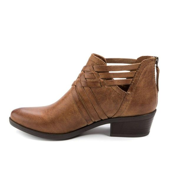 Item - Brown Womens Goldie Fabric Closed Toe Ankle Boots/Booties Size US 8.5 Regular (M, B)