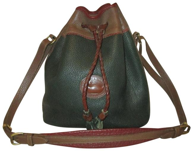 Item - Bucket Awl Vintage Drawstring Green Multi Leather Shoulder Bag