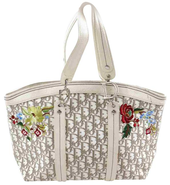 Item - Bag Monogram Trotter Embroidery 862722 Beige Canvas Tote