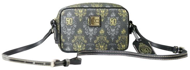 Item - Haunted Mansion 50th Anniversary Camera Handbag Black/Gold/Silver Coated Cotton Cross Body Bag