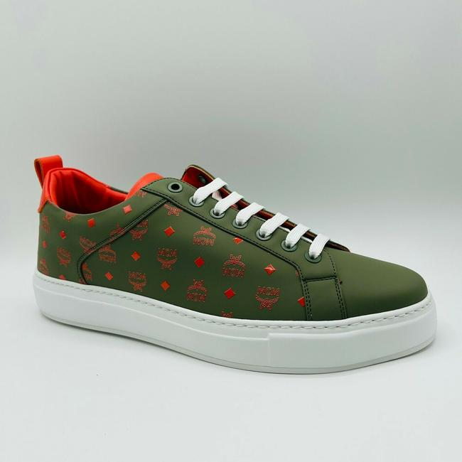 Item - Green Monogram Leather Low-top Sneakers Eu 41/Us 8 Mex9amm60g8 Shoes