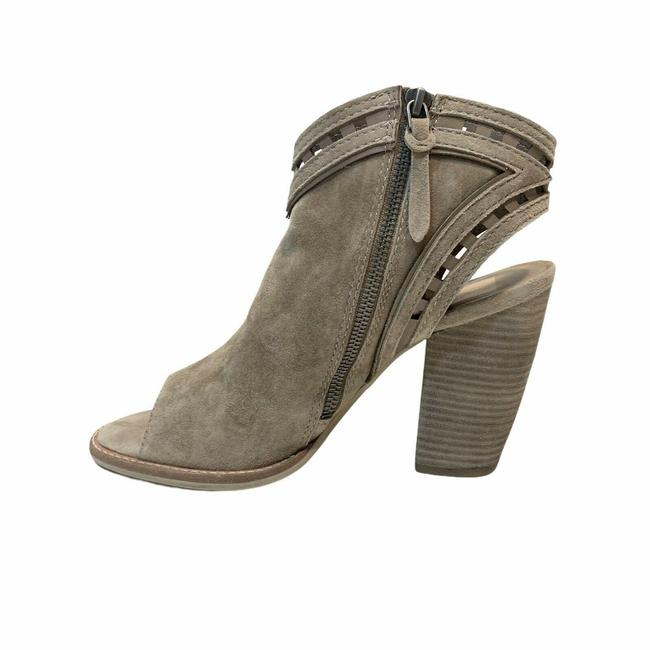 Item - Gray Brown Natasha Almond Suede Leather Cutout Ankle Boots/Booties Size US 9.5 Regular (M, B)