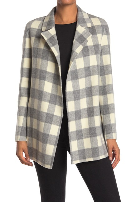 Item - Grey Ivory (Nwt) Sileena Luxe Buffalo Plaid Wool Coat Size 6 (S)