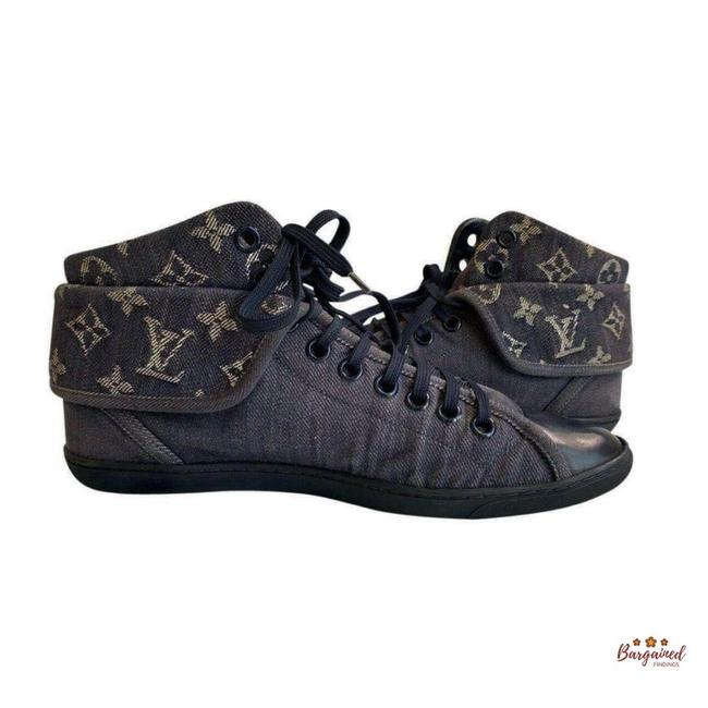 Item - Blue Brea Monogram Denim High Top Lace Up 39/9 Sneakers Size US 9 Regular (M, B)