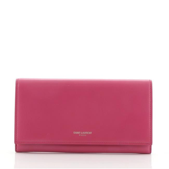 Item - Pink Marquage Continental Leather Wallet