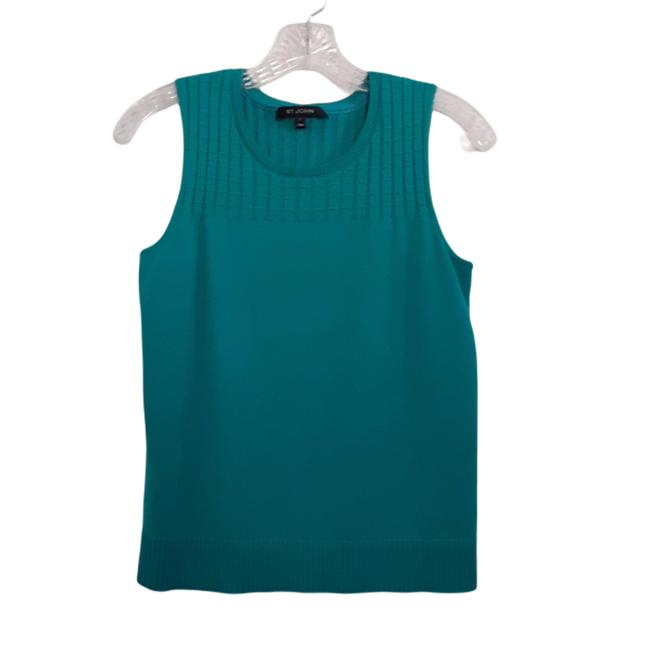 Item - Teal Sleeveless Pullover Sweater Tank Top/Cami Size 6 (S)