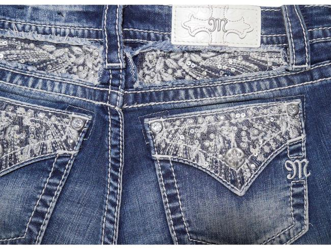 Item - Medium Blue Signature Slim Pearl & Sequin Embellish Boot Cut Jeans Size 27 (4, S)