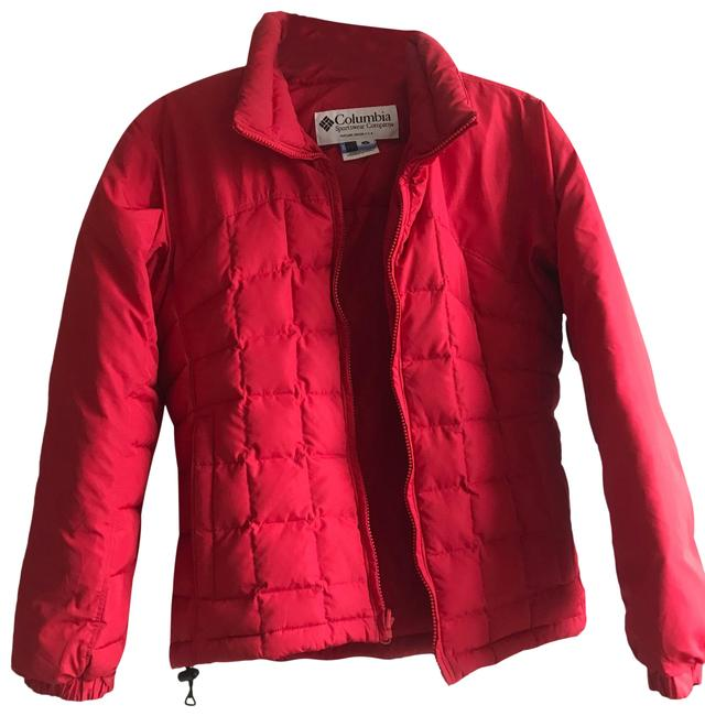 Item - Red Cherry Quilted Down Jacket Coat Size 8 (M)