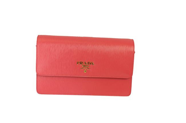 Item - Peonia Vitello Move Wallet Handbag 1bp016 Pink Lambskin Leather Cross Body Bag