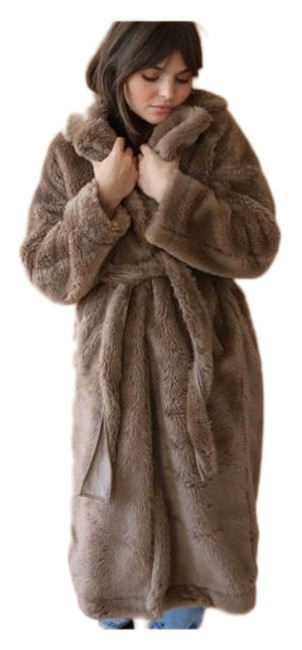 Item - Brown/Tan Teddy Warm Stylish Faux Coat Size 8 (M)