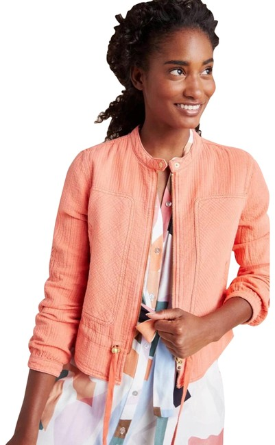 Item - Apricot Joyce Textured Quilted Moto Jacket Size 4 (S)