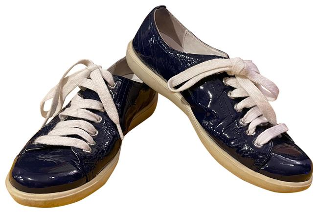 Item - Blue Patent Leather Sneakers Size US 6 Regular (M, B)