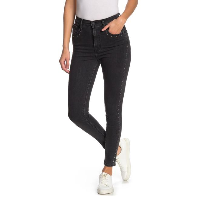 Item - Black Dark Rinse Mile High Studded Super Skinny Jeans Size 0 (XS, 25)