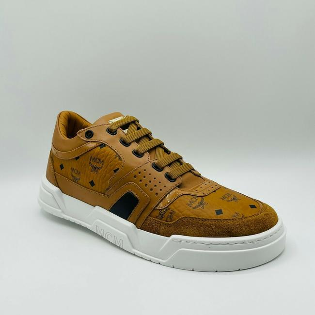 Item - Brown Visetos Leather Low-top Sneakers Eu 44/Us 11 Mexasmm37co Shoes
