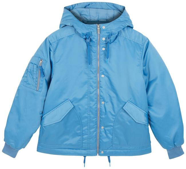 Item - Blue XL Insulated Bomber Hooded Jacket Coat Size 16 (XL, Plus 0x)